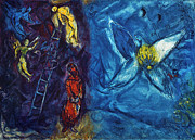 Judaism Prints - Chagall - Jacobs Dream Print by Granger