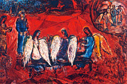 Judaism Prints - Chagall: Abraham/angels Print by Granger