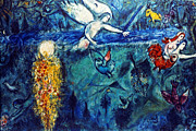 Adam Framed Prints - Chagall: Adam And Eve Framed Print by Granger