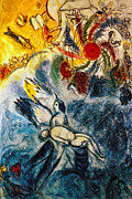Chagall Posters - Chagall: Creation Poster by Granger