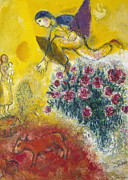 Modern Russian Art Posters - CHAGALL: FLIGHT, c1968 Poster by Granger