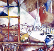 Flk Framed Prints - Chagall: Paris, 1913 Framed Print by Granger