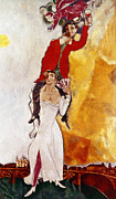 Fan Metal Prints - Chagall Portrait Metal Print by Granger