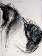 African American Drawings Originals - Chain by Gabrielle Wilson-Sealy