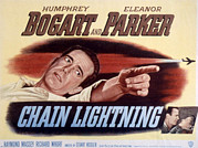 Lightning Poster Posters - Chain Lightning, Humphrey Bogart, 1950 Poster by Everett