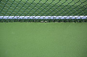 Asphalt Framed Prints - Chain Link Fence and Tennis Court Framed Print by Paul Edmondson