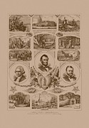 Abraham Lincoln Prints - Chain of events in American History Print by War Is Hell Store