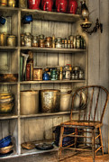 Mason Jars Prints - Chair - Chair in the Corner Print by Mike Savad