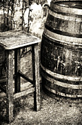 Vintage Chair Prints - Chair and Barrel Print by John Rizzuto