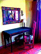 Image Gypsies Prints - Chair and Table at Casa de Leyendas by Darian Day Print by Olden Mexico
