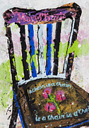 Kitchen Chair Paintings - Chair At Oxbow by Rich Travis