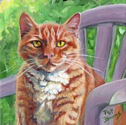 Ginger Cat Prints - Chair Boss Print by Pat Burns