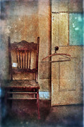 Mystery Door Framed Prints - Chair by Open Door Framed Print by Jill Battaglia