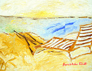 Patrick Painting Prints - Chair by the Ocean Print by Patrick Arthur OKeeffe