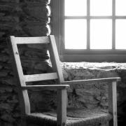 Stone Wall Art - Chair by Window - Ireland by Mike McGlothlen
