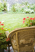 Petals Lifestyle Photos - Chair Facing Yard by Andersen Ross