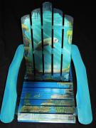 Cave Sculptures - Chair For Breast Cancer Raffle by Kris Crollard