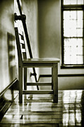 Wooden Stairs Posters - Chair Poster by HD Connelly