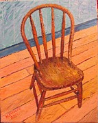 Herschel Pollard Metal Prints - Chair in my Studio Metal Print by Herschel Pollard