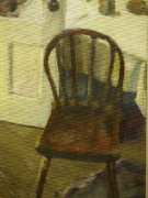 Kitchen Chair Paintings - Chair in the kitchen by Walt Maes