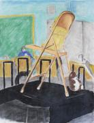 Pastel Art Prints - Chair life study Print by Jose Valeriano