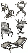 Gifts Drawings - Chair poster vertical  by Lee-Ann Adendorff