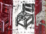 Lino Mixed Media Prints - Chair V Print by Peter Allan