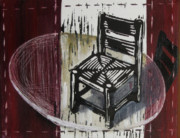 Lino Mixed Media Prints - Chair VI Print by Peter Allan