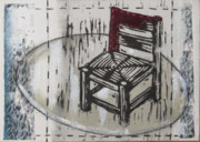 Lino Mixed Media Prints - Chair VII Print by Peter Allan