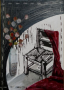 Lino Mixed Media Prints - Chair VIII Print by Peter Allan