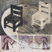 Chair Mixed Media Originals - Chair XI by Peter Allan