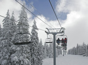 "\""winter Sports\\\""  Framed Prints - Chairlift at Vail Resort - Colorado Framed Print by Brendan Reals"