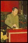 Peking Prints - Chairman Mao Tse-tung Casts His Vote Print by Everett
