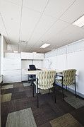 Cubicle Art - Chairs and Desk in Office Cubicle by Jetta Productions, Inc