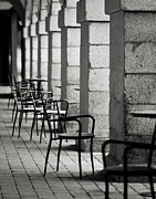 Marcio Faustino Framed Prints - Chairs and pillars  Framed Print by Marcio Faustino