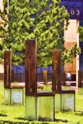 Oklahoma City Bombing Posters - Chairs at the Gate Poster by Ricky Barnard