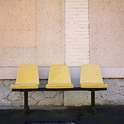 Exteriors Photo Posters - Chairs Poster by Bernard Jaubert
