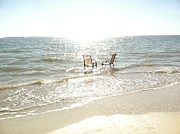 Bonnie Wright Metal Prints - Chairs in Florida Metal Print by Bonnie Wright