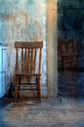 Interior Still Life Metal Prints - Chairs in Rundown House Metal Print by Jill Battaglia