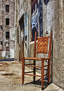 Downtown Mixed Media Originals - Chairscape by Renee Ledbetter