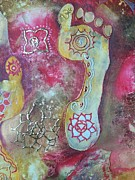 Religious Mixed Media - Chakra Awakens by Vijay Sharon Govender