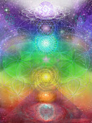 Sacred Space Prints - Chakra Journey 2012 Print by Jahsah Ananda