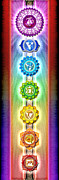 Third Eye Digital Art - Chakras Banner Ed. 2010 by Dirk Czarnota