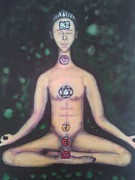 Chakra Paintings - Chakras by Yan Michalevsky