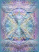 Chalicebridge.com Posters - Chalice of VorticSpheres of Color Shining Forth over Tapestry Poster by Christopher Pringer