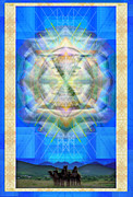 Chalicebridge.com Posters - Chalice Star over Three Kings Holiday Card IX Poster by Christopher Pringer
