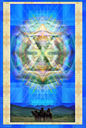 Hued Posters - Chalice Star over Three Kings Holiday Card XABrtI Poster by Christopher Pringer