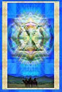 Chalicebridge.com Posters - Chalice Star over Three Kings Holiday Card XBBrtII Poster by Christopher Pringer