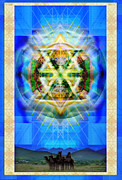 Hued Posters - Chalice Star over Three Kings Holiday Card XBBrtIII Poster by Christopher Pringer
