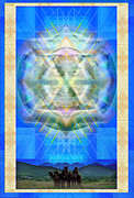 Chalicebridge.com Posters - Chalice Star over Three Kings Holiday Card XCI Poster by Christopher Pringer